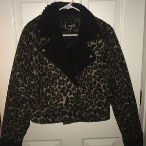 Leopard Furry Jacket size S